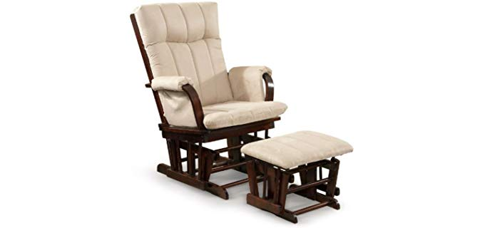 Artiva USA Home Deluxe - Rocking Recliner and Ottoman in Mission Style
