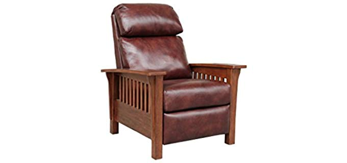 BarcaLounger Mission Style Leather Recliner - Victorian Arts & Craft Era Recliner