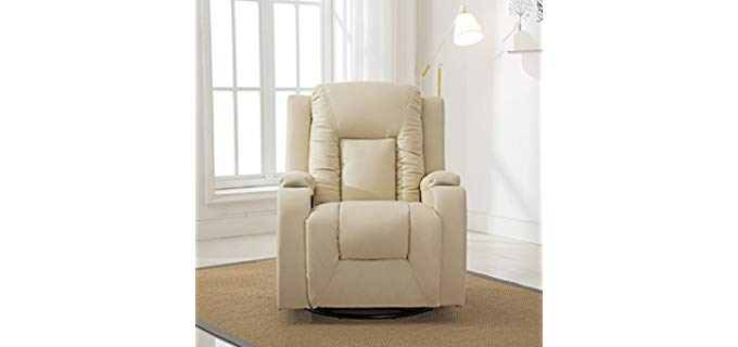 ComHoma Modern - Plush Rocker Swivel Recliner