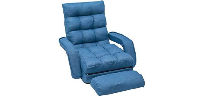 Merax Folding - Lazy Floor Reclining Chair
