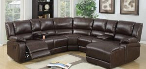 If you are looking for a comfortable seat for the whole family, with Reclining functions, then the Sectional Sofa and Recliner is your answer. This is the Perfect seat for an any sized living room or space that the whole family can share. On the plus side you equally have the great option of being able to recline and put your feet up for complete relaxation on the Section Sofa with Recliner. [super_featured_image] Why a Sectional Sofa and Recliner Whether you have a small or large living room or space, luxury and comfort should never be sacrificed. One of the best ways to achieve this is to use a small or large sectional sofa, with a Recliner in the space that you have available to you. A recliner in itself adds a new dimension and fills a room with interest, as well as a comfortable space to relax and sleep on. The sectional sofa takes this experience to the next level by providing you with multiple recline and seating positions, for the entire family. Types of Sectional Sofa Recliners and Their Features Modern Style Leather A Modern Style with leather upholstery that is designed for a more spacious living room. You can choose between genuine or Faux Leather, and This type of sectional recliner is available in both a Manual or Powered Option. Minimalist Contemporary Style Fabric Upholstered A bit more simplistic, and more likely to be found in smaller sizes. This particular Sectional recliner is usually upholstered in a durable fabric, with the color of your choice. In some cases it comes with a sturdy wooden frame and legs, and plain straight, yet elegant lines and curves. Plush Padded Upholstered in any material whether leather or fabric, although usually a soft microfiber, this Sectional recliner is large, overstuffed and amply padded. It is comfortable and inviting, ideal for a family home. Traditional Style Your Traditional Style Sectional Sofa and Recliner usually boasts a wood frame with angular and tapered legs. The seats and cushions are well padded and th