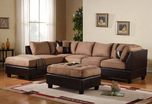 Sectional recliner TWO TONE