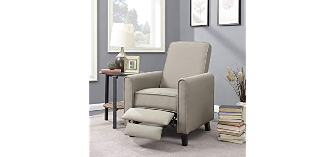 Belleze Small Recliner Club Chair - Club Chair Recliner for the Bedroom