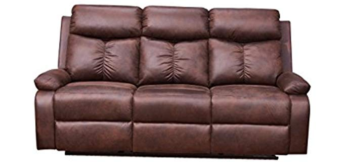Betsy Furniture Microfiber - Three Seater Recliner