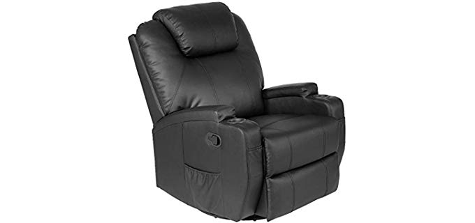 AyaMastro Heated Rocker Recliner - Swivel Rocker Recliner With Heat & Massage