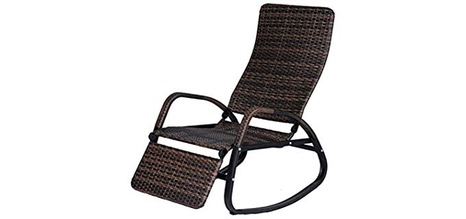 BuyHive Rattan - Outdoor Rocking Chair and Recliner