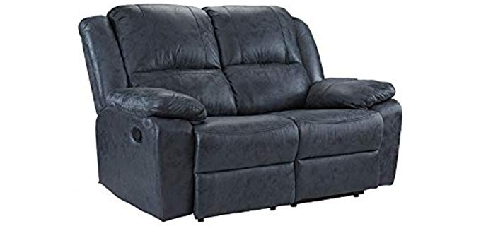 Casa Andrea Oversized - Fabric Two Seater Recliner
