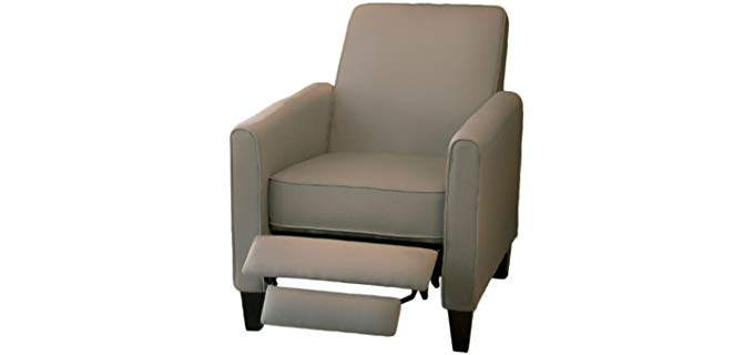 Great Deal Furniture Modern Club Chair - Sleek Fabric Club Chair Recliner