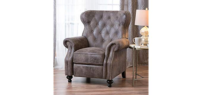Chrostopher Knight Home - Tufted Wingback Recliner