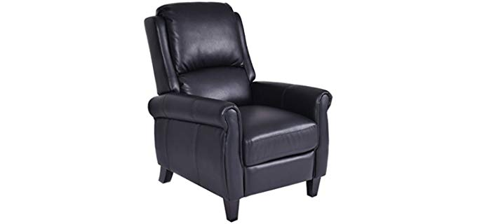 Giantex Space Saving Recliner - Petite Space Saving Push Back Recliner