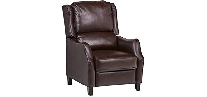 Ravenna Home - Leather Push Back Recliner