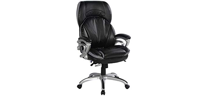 VIVA OFFICE Office Nap Time Recliner - Bonded Leather Office Chair for Sleeping
