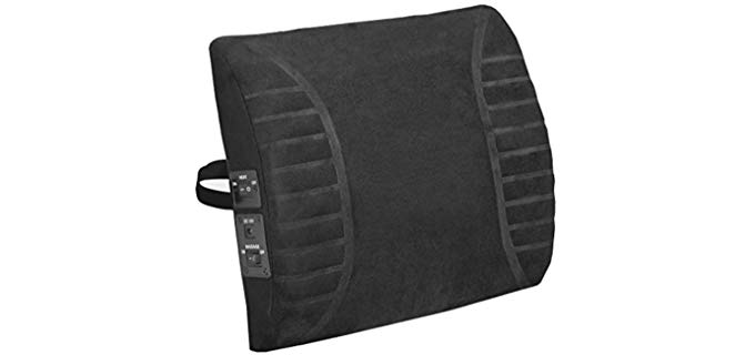 Comfort Products Massage - Heated Lumbar Cushion for Your Recliner
