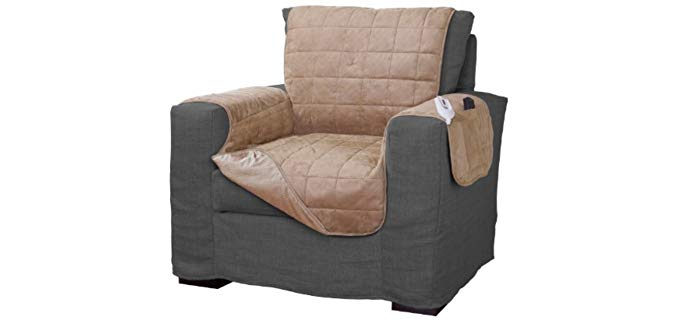 Serta Quilted - Heated Chair Cover and Protector for Recliners