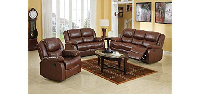 ACME Fullerton - Bonded Leather Sofa Recliner