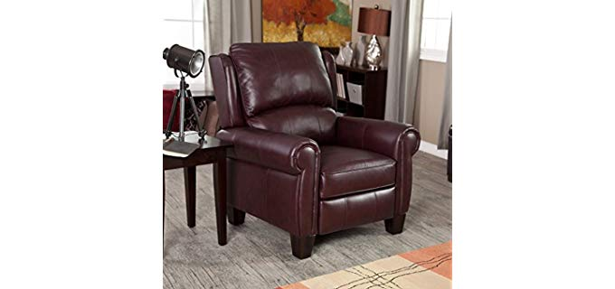 Barca Lounger Charleston - Burgundy Top Grain Leather Recliner