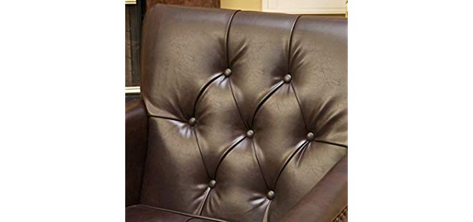 Best Selling Murphy - Leather Vintage Club Chair