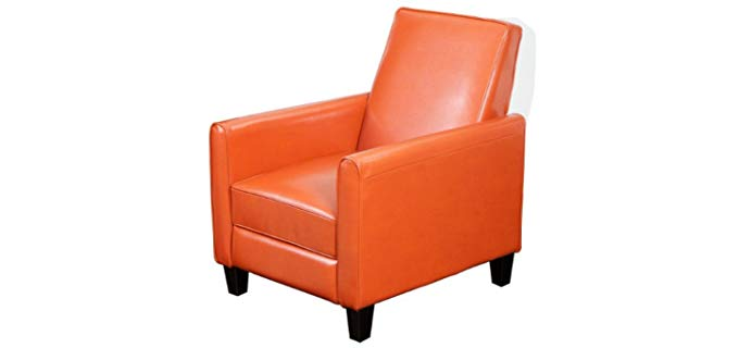 Best Selling Davis - Reclining Club Chair in Affordable Leather