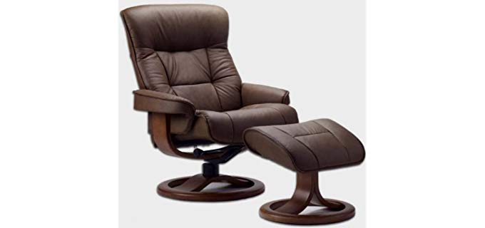 Fjords Genuine Leather Recliner - Premium Quality Leather Recliner And Ottoman
