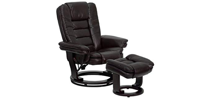 Flash Furniture Bonded Leather Recliner - Classic Styled Low Sitting Bonded Leather Recliner