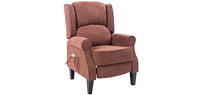 HomCom Heated -  Suede Fabric Recliner