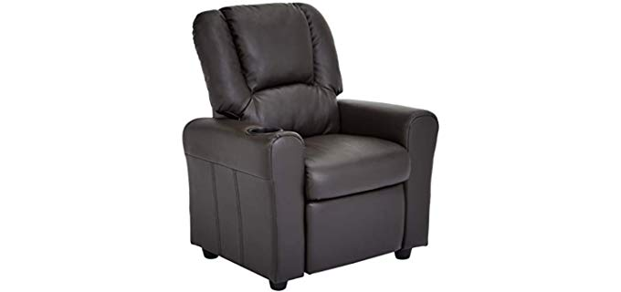 JC Home Bilbao - Kids Recliner with Cup Holder