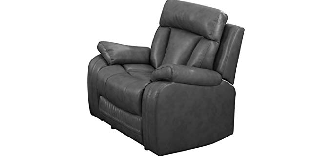 NHI Express Grey - Plush Couch Potato Recliner Sofa for One