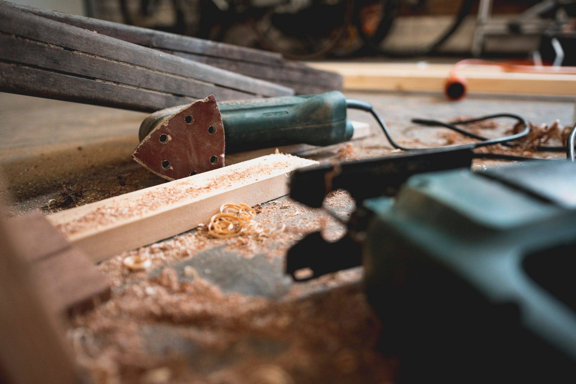 repairing tools on a floor